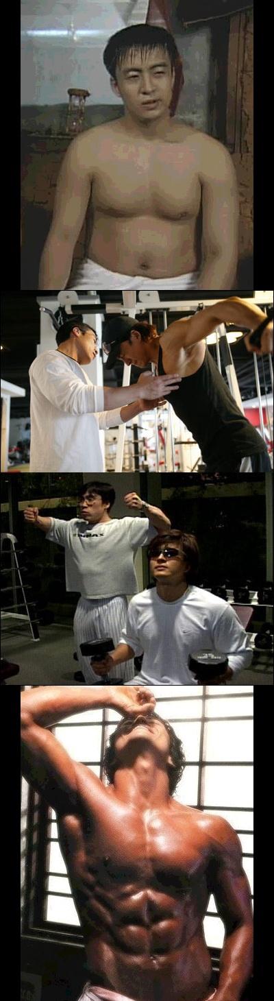 韓国俳優 ペ・ヨンジュンの肉体改造