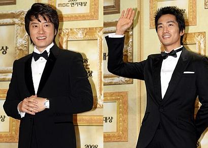 MBC演技大賞受賞のキム・ミョンミンとソン・スンホン