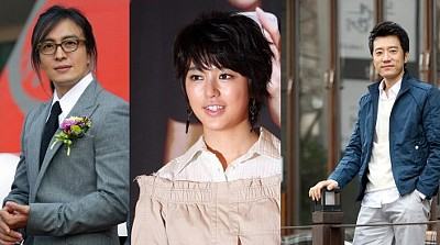 韓国俳優ペ・ヨンジュン、ユン・ウネ、キム・サンギョン