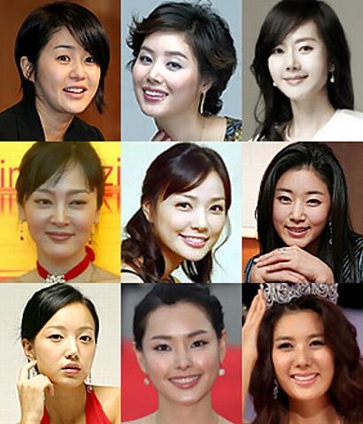 左上から コ・ヒョンジョン、キム・ソンリョン、ヨム・ジョンア、イ・スンヨン、ソン・テヨン、キム・サラン、キム・ジユ、イ・ハニ、キム・ヒギョン