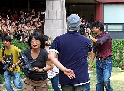 リュ・シウォンのドラマ撮影を応援する日本ファン
