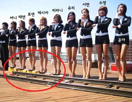 少女時代のメンバー間、背比べ屈辱画像